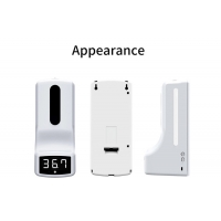 Quality Infrared 10cm Wall Mounted Thermometer With Hands Free Hands Soap Dispenser for sale