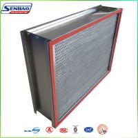 Quality Stainless Steel Frame SUS Oven Filter High Temp Hepa Filter High Efficiency for sale