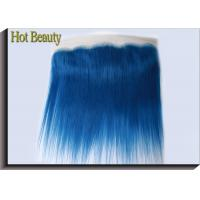 """Quality Dark Blue Human Hair Virgin Lace Frontal 16"""" AAAA Grade 70g-80g / Piece for sale"""