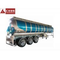 Quality 3 Axle 42000 L Fuel Transfer Tank Trailer / Tanker Trailer Large Carrying Capacity for sale