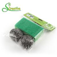 Stainless Steel 410/430 Metal Scrub Pad , Kitchen Abrasive Stainless Steel Scouring Ball