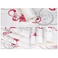 Buy cheap White Foam Floral Self Adhesive Wallpaper Water Resistant Wallpaper For Administration product