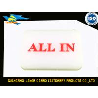 Buy cheap Customizeable Non Toxic Casino Accessories Square Poker Dealer Button product