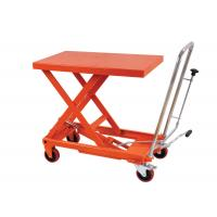 Quality Manual Hand Portable Hydraulic Lift Table Rental , Single Scissor Lift Table For Cargo for sale