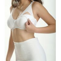 Buy cheap White 82% Ployster 18% Cotton 42H Eco-Friendly Breathable Maternity Underwire Nursing Bra product