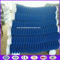 Quality PVC/PE Coated 9gauge wire decorative chain link fence with Height 1200mm in blue color for sale