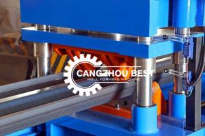 China 2/3 Waves Beam C Post Road 5mm Crash Barrier Roll Forming Machine on sale