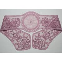 China Purple Lace Collar Applique Floral Embroidered Tulle Mesh Trim For Neckline on sale