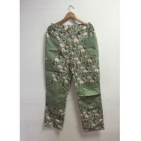 Buy cheap Floral Printed Cotton Custom Working Clothes Long Work Pants For Women product