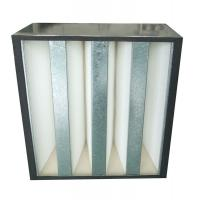 China Low Resistance V Bank Mini-Pleat Media Air Filters With Abs Plastic Frame on sale