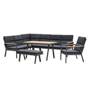 China 760mm Depth 1970mm Breadth Rattan Garden Furniture Sets Grey Color on sale