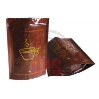 Small Resealable Plastic Zipper Bags Packaging , Coffee Stand Up Pouch