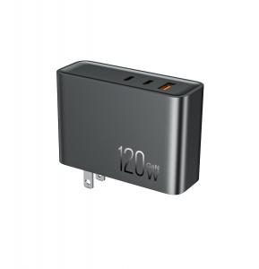 Quality Anti Fire Plastic 120 Watt GaN Charger OLP Mobile Travel Adapter for sale