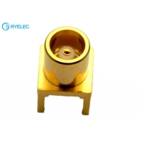 Quality Brass body Application  MCX Female PCB Board Straight RF Connector Adapter for sale