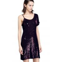 Buy cheap Sequin Embroidery Bling Bling Party Dresses , One Shoulder Club Dress Going Out from wholesalers