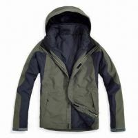Quality Two-in-one Seams-taped Ski Jacket for Men with PU Coating and Water Resistance for sale