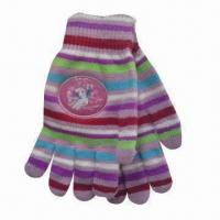 Quality Children's Magic Gloves with Printed Logo, Made of 100% Acrylic for sale