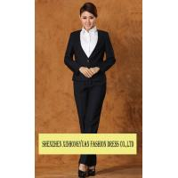Quality professional Corporate Office Uniforms White - Collar Ladies Office Suit for sale