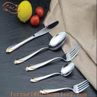 China Handle Golden Pattern International Picnic Tableware Design on sale