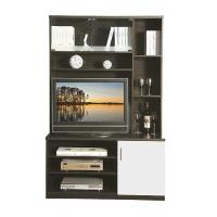 China Simple Apartment MDF Entertainment Wall Unit Furniture Melamine / High Gloss  Painting on sale