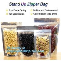 Quality Snack Zipper Stand Up Pouch Food Flexible Zipper Packaging Square Bottom for sale