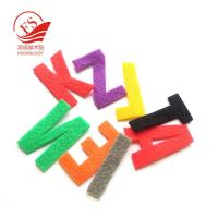Quality Durable Decorative Nylon Hook Loop Alphabet Letters ABC For Promotion for sale