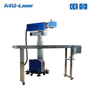 China 30W CO2 Flying Laser Marking Machine For Non Contact Laser Engraving on sale
