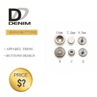 Quality Professional Denim Metal Buttons , Tapered Pearl Snap Buttons Custom Size for sale