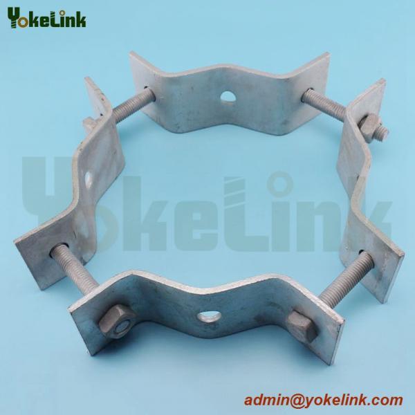 Galavnized Strap Style Adjustable Pole Bands