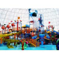 Quality Ocean Style Water Theme Park Equipment / Water Spray Equipment 12X8X6.1m Size for sale