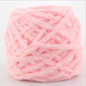 Quality viscose rayon fancy knitting chenille yarn for lady