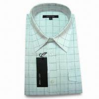 Quality Men's Short Sleeve Dress Shirt, Made of CVC Fabric for sale