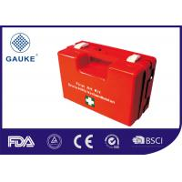 Quality Durable Red Medical First Aid Kit In ABS Box Empty Box With Wall Bracket for sale