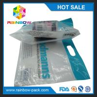 China custom reusable food packaging plastic zip-lock bags  slider k bag with logo stand up bag clear front on sale