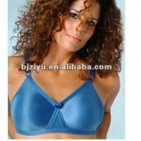 Quality Blue 34B - 42E Professional One-Piece Seamless Padded Plus Size Convertible Bra For Ladies for sale