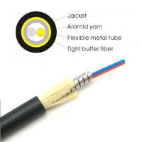Buy Anti Rodent 2F Tactical Fiber Optic Cable Singlemode OM1 OM2 OM3 OM4 Lightweight at wholesale prices