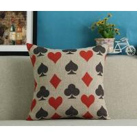 China Poker series cushion,playing cards cushion, custom print cotton linen cushion on sale