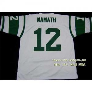 New NFL New York Jets #12 Joe Namath White Jersey