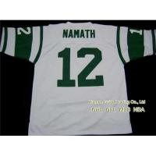 Buy New NFL New York Jets #12 Joe Namath White Jersey at wholesale prices