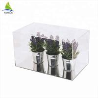 Quality Clear Acrylic Countertop Display Case Simple Style Black Top And Bottom Clear Custom Acrylic Box for sale
