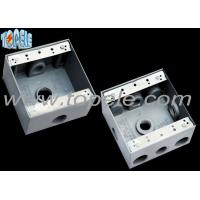 Buy Square Weatherproof Electrical Boxes 3 Hole One Gang Outlet Fitting Accessory at wholesale prices