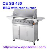 Quality Gas Barbecue Grill with Rear Burner for sale