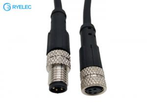 Quality M8 4P Waterproof Aviation Molded Male To Female Plug To Socket Antenna Extension Cable for sale