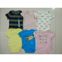 Quality Malaysia baby outfits Cheap brand clothes stock Gap infant cotton short sleeve pattern rompers cute bodysuits jumpsuits for sale