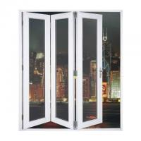 Buy cheap Waterproof Aluminum Frame Folding Glass Patio Doors With Louver from wholesalers