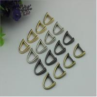 China Best fashion gun metal color zinc alloy d ring,11mm metal bag d ring on sale