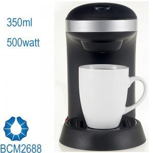 One Cup Drip Coffee Maker stream line design in black BCN2688