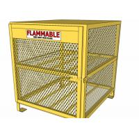 Quality Yellow Color Gas Cylinder Cages Pad Lockable Easily Assembled / Dissembled for sale