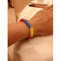Quality Colorful silicone wristbands,HOT Rainbow Make Rubber Band Bracelet for sale