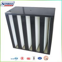 Quality V - bank hepa filter for Rigid Box Filter Heating Ventilation and Air Conditioning for sale